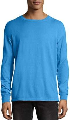 Hanes Big Men's ComfortWash Garment Dyed Long Sleeve Tee