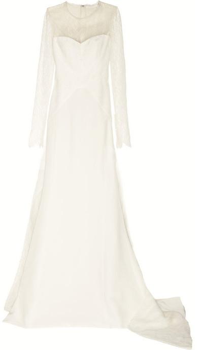 Antonio Berardi Silk-blend crepe and lace gown