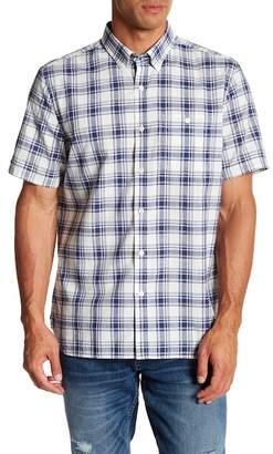 Jack Spade Check Short Sleeve Trim Fit Dress Shirt