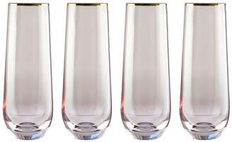 Jay Import Rose/Gold Vivienne Stemless Flute Glass - Set of 4