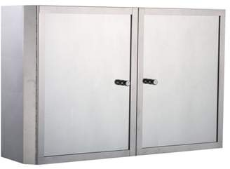 "Anself 20"" x 12"" Stainless Steel Double Door Bathroom Mirror / Medicine Wall Cabinet"