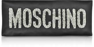 Moschino Black Oversized Signature Clutch