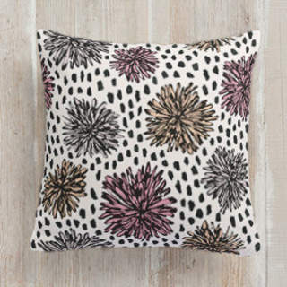 Graphic Florals Square Pillow