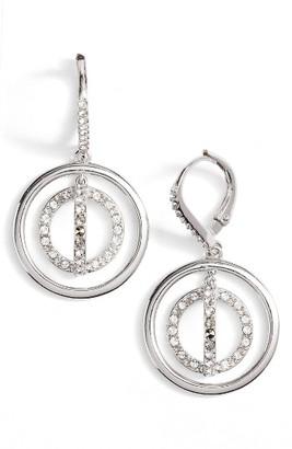 Women's Judith Jack Sparkle Silver Crystal Drop Earrings $125 thestylecure.com