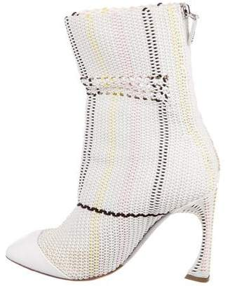 Christian Dior Cord Ankle Boots