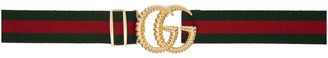 Gucci Green and Red GG Web Belt