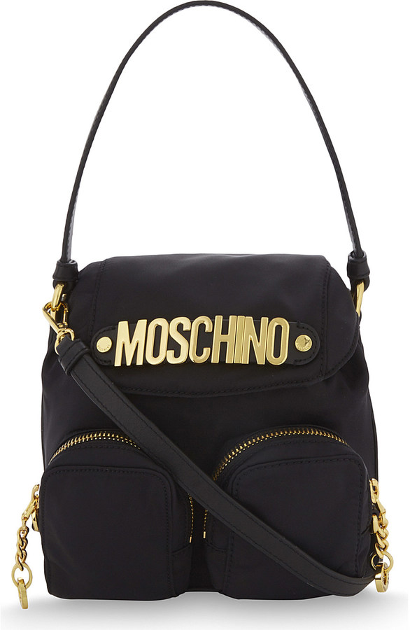 Moschino Moschino Logo nylon cross-body bag