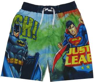 Justice Kids Boys Batman League Swimsuit Trunks Short Size Small