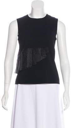 Christopher Kane Silk-Accented Sleeveless Top
