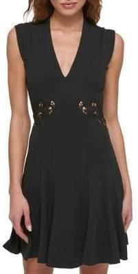 GUESS Sleeveless Pleated Mini Dress