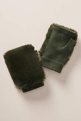 Anthropologie Faux Fur Fingerless Gloves
