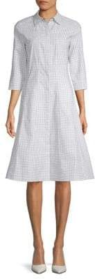 Lafayette 148 New York Cammi Stretch-Cotton Shirtdress