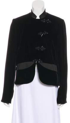 Armani Collezioni Velvet Collarless Jacket w/ Tags