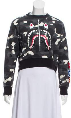 A Bathing Ape x Undefeated Camouflage Crew Neck Sweatshirt