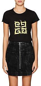 "Givenchy Women's ""G"" Logo Cotton Jersey T-Shirt - Black"
