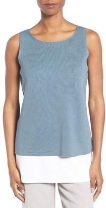 Women's Eileen Fisher Silk & Organic Cotton Shell $178 thestylecure.com