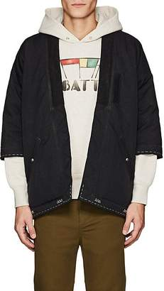 Visvim Men's Embroidered Down Kimono Jacket