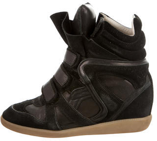 Isabel Marant Beckett Wedge Sneakers $220 thestylecure.com