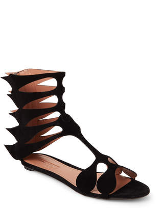 Samuele Failli Fiamma Laser-Cut Flat Gladiator Sandals