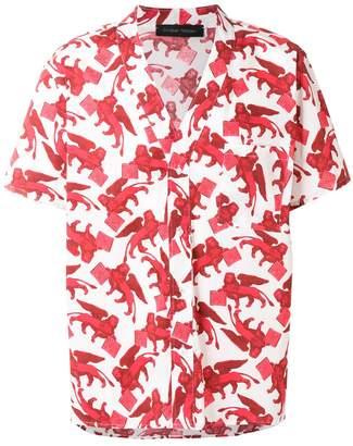 Christian Pellizzari St Leone of Venice printed shirt