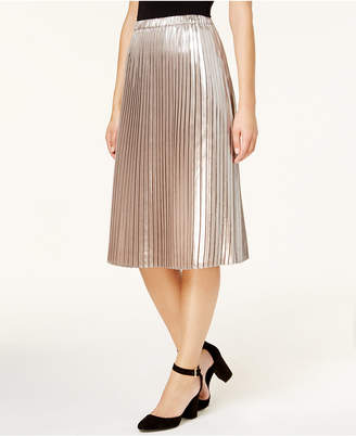 Tommy Hilfiger Metallic Pleated Skirt, Created for Macy's