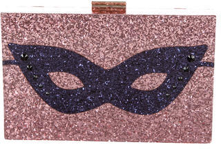 Kate SpadeKate Spade New York Glitter Mask Clutch w/ Tags