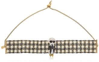 Karl Lagerfeld Beaded Choker Necklace