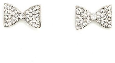 Charlotte Russe Rhinestone Bow Stud Earrings