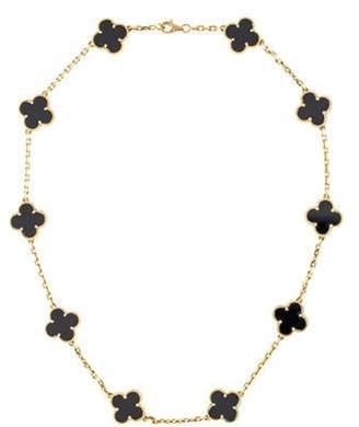 Van Cleef & Arpels Vintage Alhambra 10 Motif Necklace yellow Vintage Alhambra 10 Motif Necklace