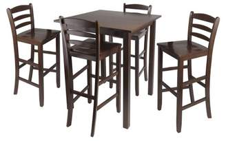 "Winsome Parkland 5pc High Table with 29"" Ladder Back Stools"
