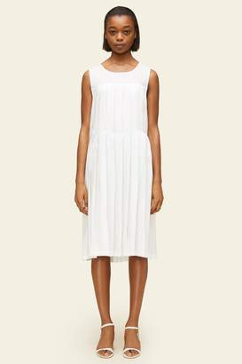 Mansur Gavriel Linen Pleated Sleeveless Dress