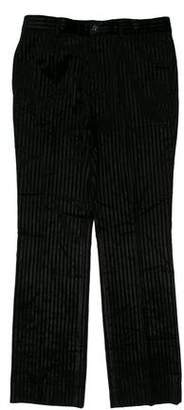 Burberry Velour Flat Front Dress Pants
