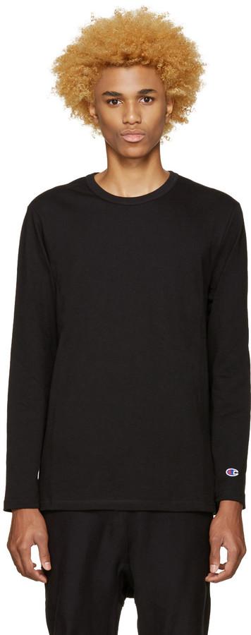 Champion Reverse Weave Black Heavy Jersey T-Shirt