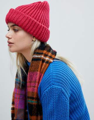 Pieces Chunky Knit Beanie Hat