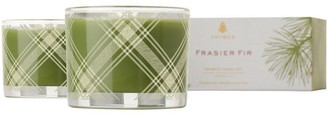 Thymes Frasier Fir Plaid Poured Candle Set