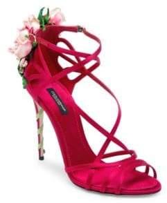 Dolce & Gabbana Rose-Embellished Sandals