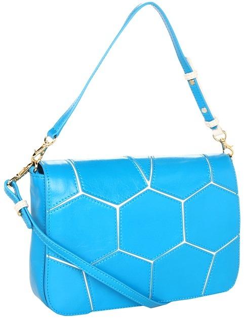 Badgley Mischka Maria Small Shoulder (Turqoise) - Bags and Luggage