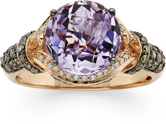 LEVIAN CORP LIMITED QUANTITIES LeVian Grand Sample Sale Genuine Amethyst and 1/2 CT. T.W. White and Chocolate Diamond Ring $1,500 thestylecure.com