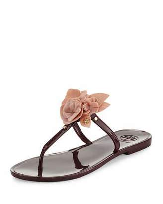 Tory Burch Blossom Flat Jelly Thong Sandal $125 thestylecure.com