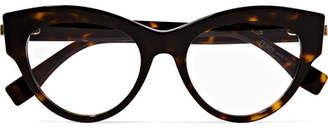 Fendi Cat-eye Acetate Optical Glasses - Tortoiseshell