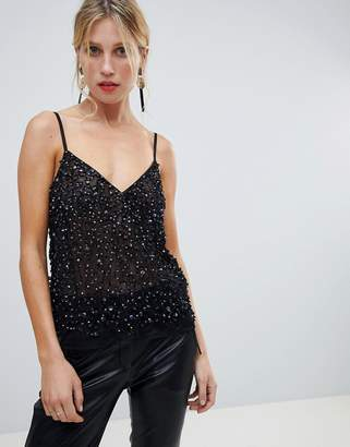 Asos Design DESIGN cami top with sequin embellishment