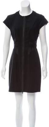 AllSaints Wool Short Sleeve Dress