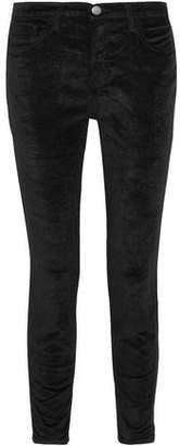 Current/Elliott The Stiletto Velvet Slim-Leg Pants