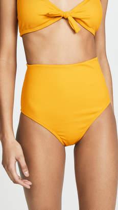 Madewell Second Wave Ribbed High-Waisted Bikini Bottoms