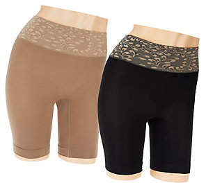 Jockey Skimmies Luxe Lace Slip Shorts Set of 2