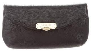 Versace Leather Convertible Clutch