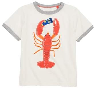 Boden Mini Lobster Applique Shirt