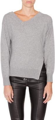 Alexander Wang Side Zip V-Neck Sweater
