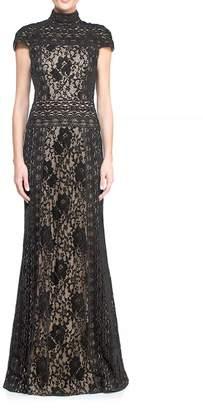 Tadashi Shoji Cap Sleeve Gown $588 thestylecure.com