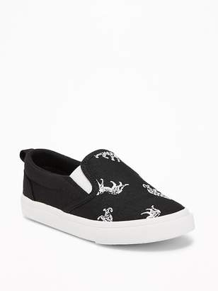 Old Navy Printed Canvas Slip-Ons for Toddler Boys